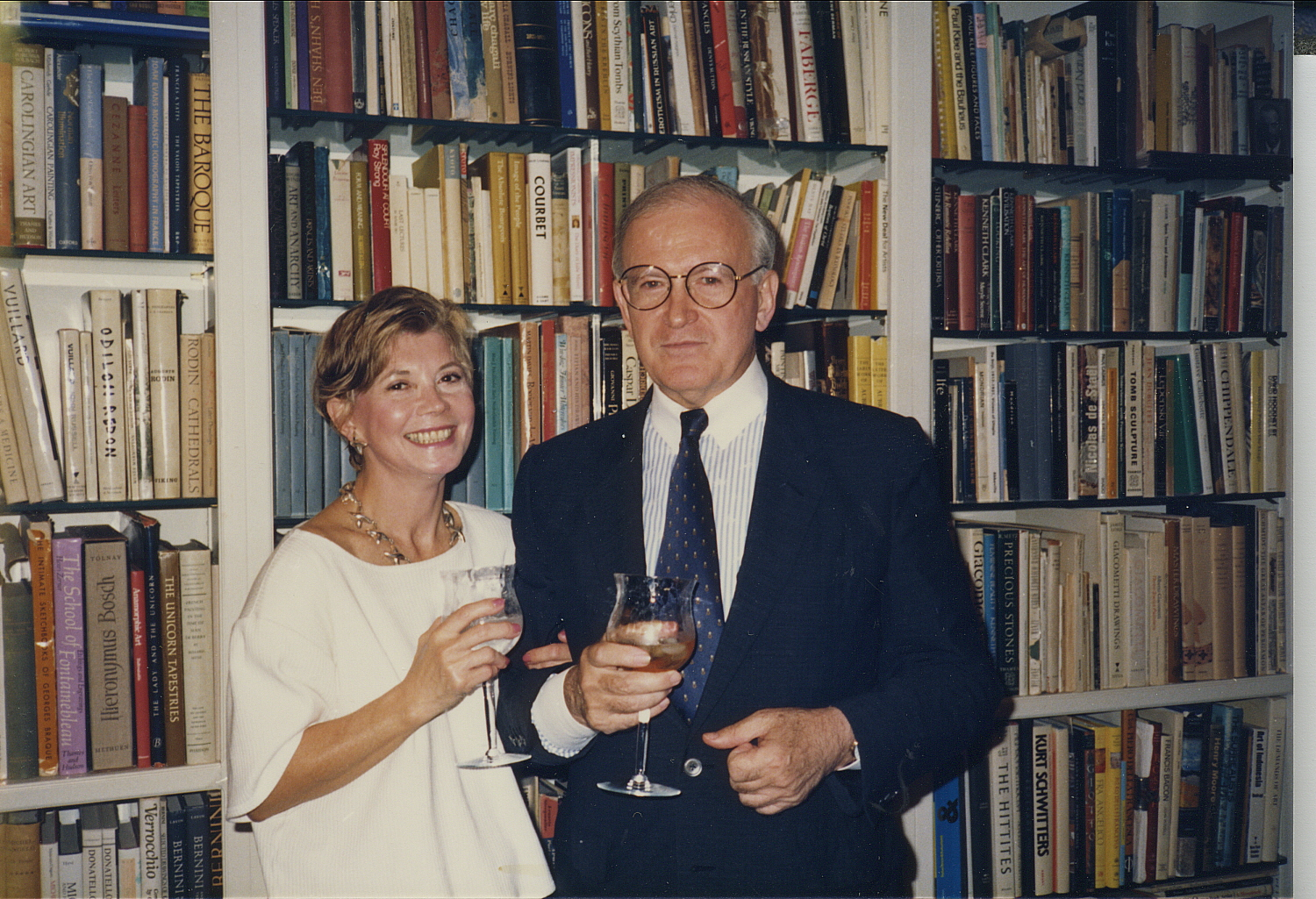 Robert Craft (right) with his wife at their home in Florida, circa early 1990s.