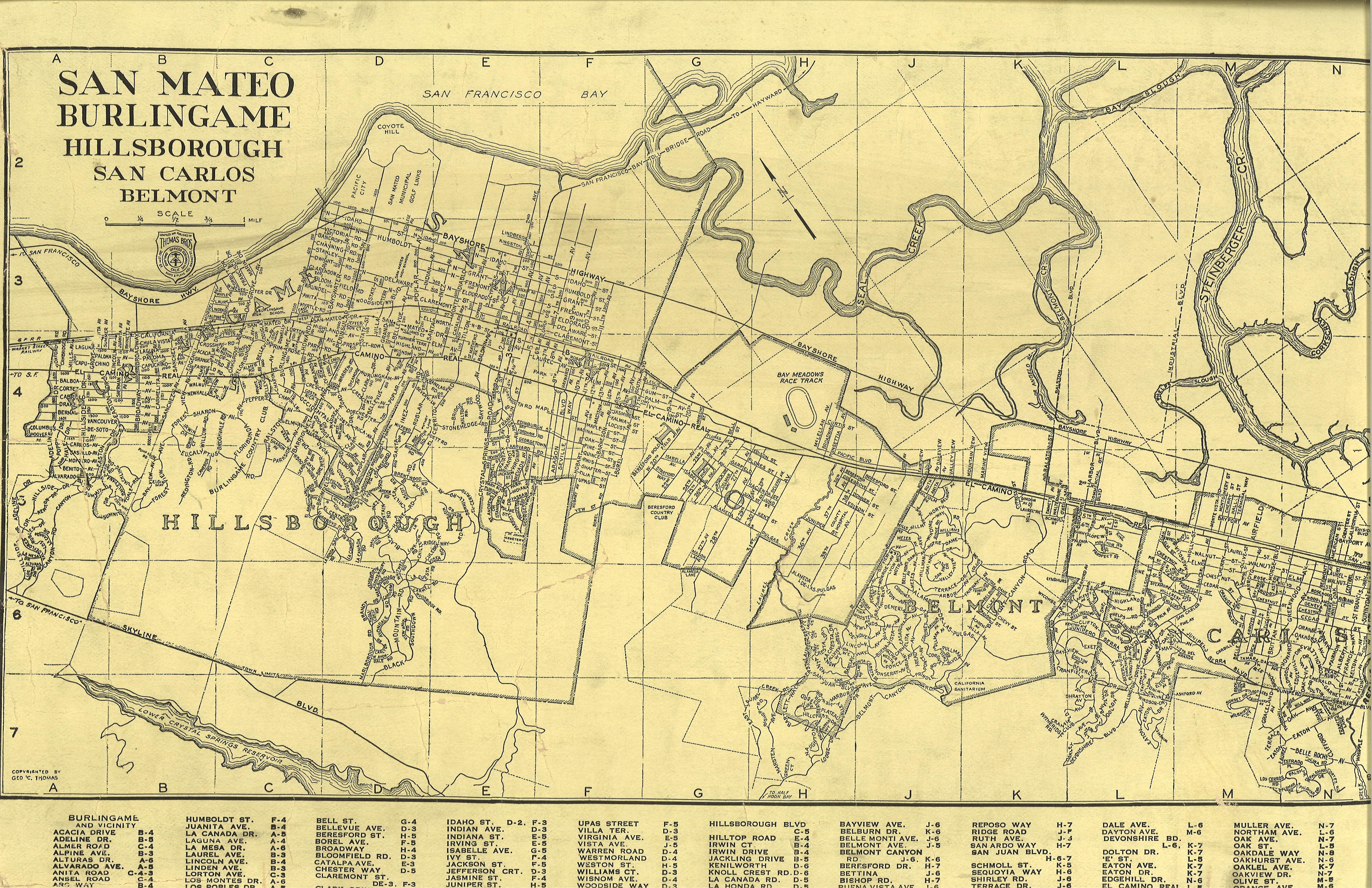 File San Mateo Burlingame Hillsborough San Carlos Belmont Map