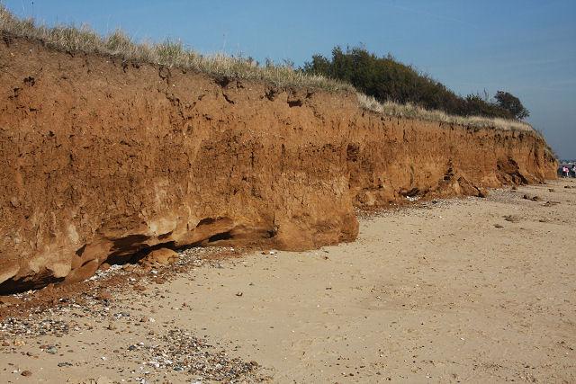 Sandstone cliffs on Mersea Island - geograph.org.uk - 1004053