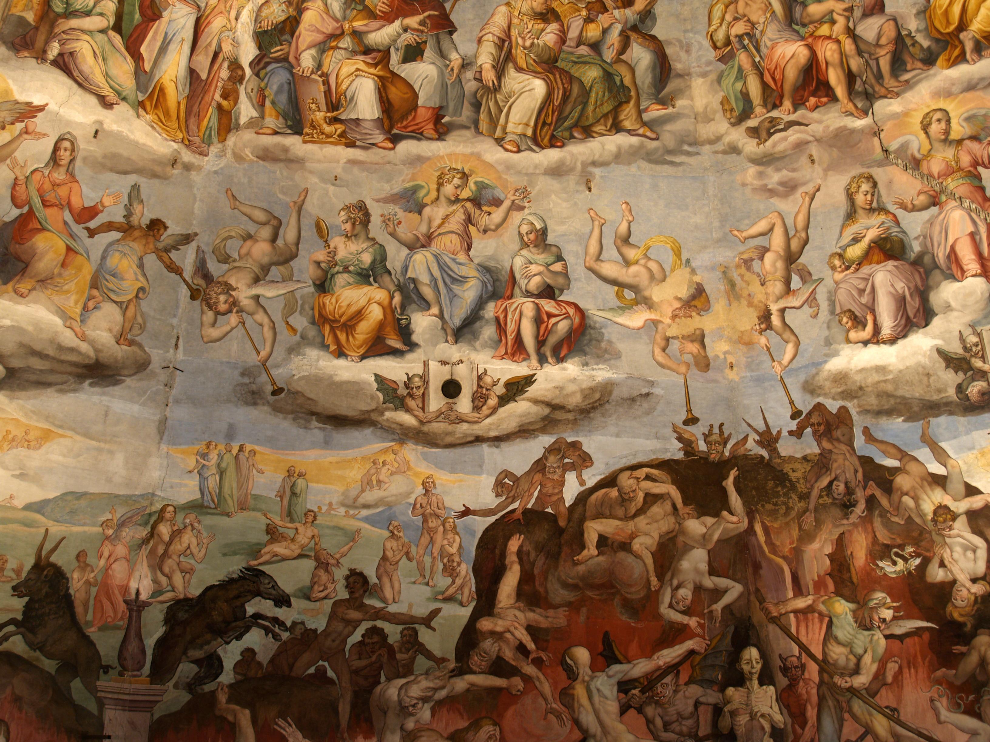 File Santa Maria Del Fiore Cupola Fresco Detail Jpg Wikimedia Commons