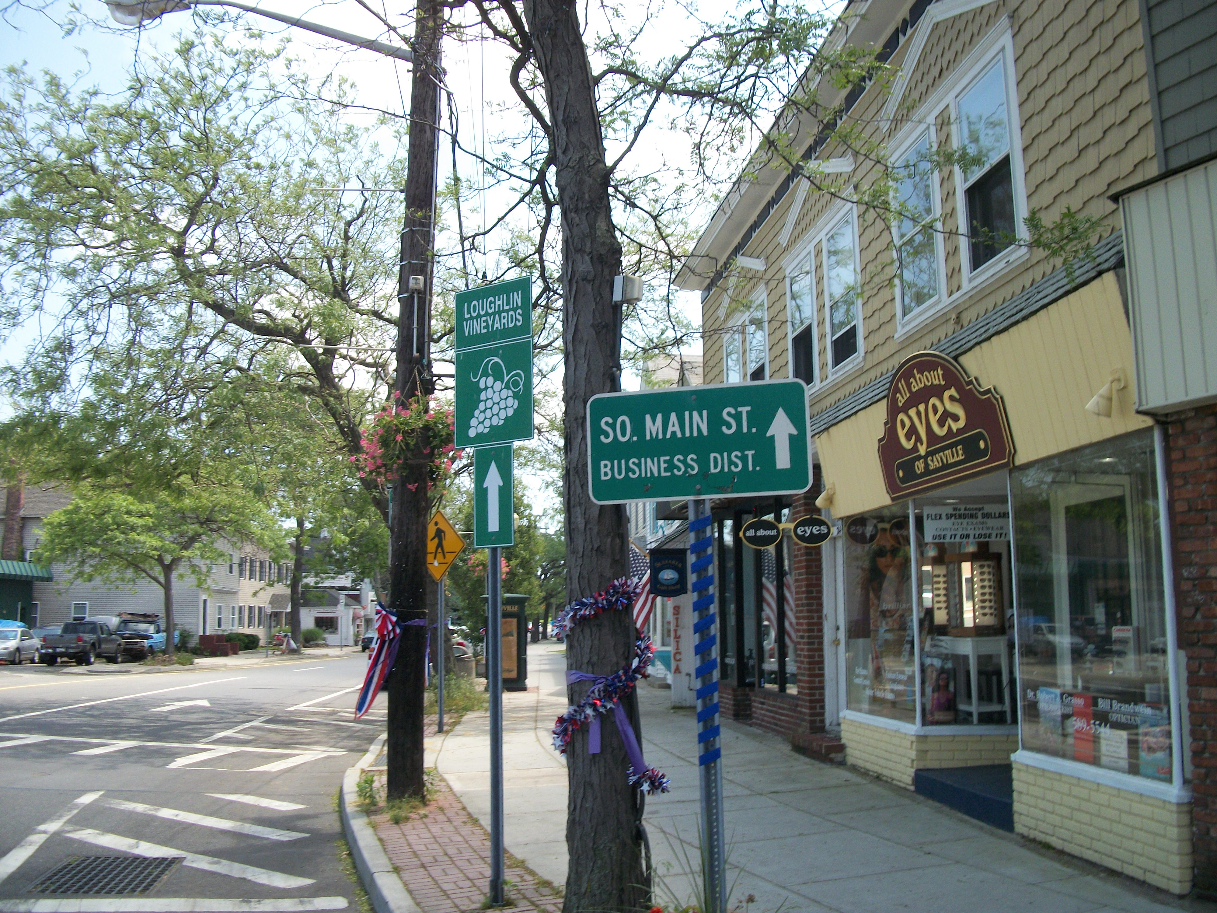 New york suffolk county sayville - File Sayville South Main Street Business District Sign Jpg