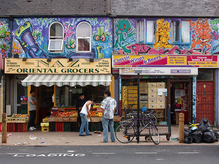 Street art sur Cowley Road à Oxford - Photo de Kamyar Adl