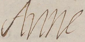 Signature of Anne of Austria, Queen mother of France in 1641.png