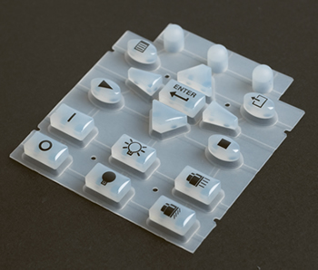 An example of a silicone rubber keypad typical of LSR moulding - Vulcanization