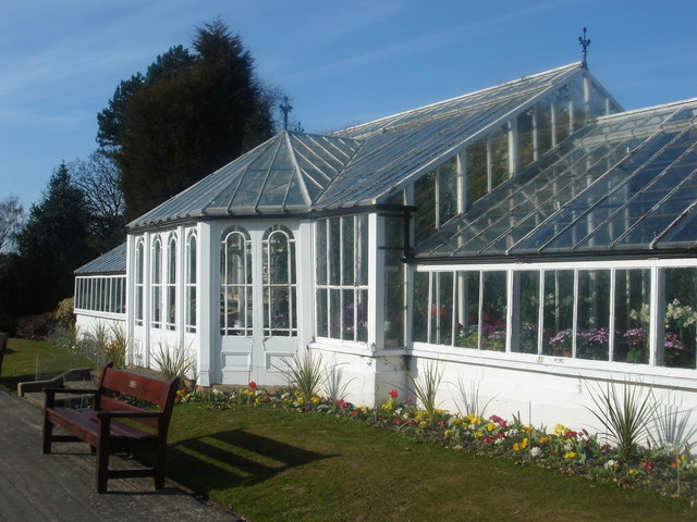 Spring greenhouse at Worden Hall - geograph.org.uk - 140741