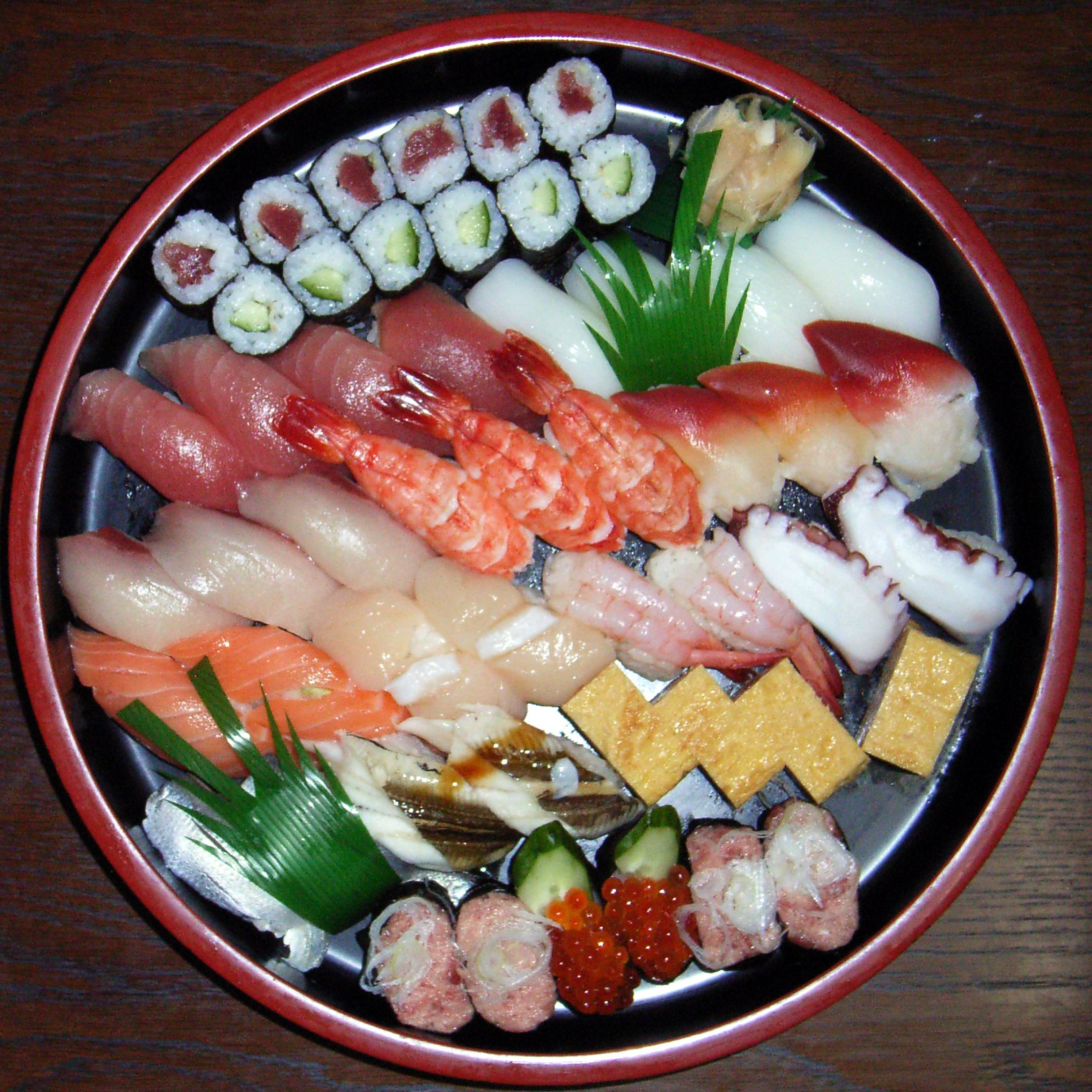 File sushi wikimedia commons for Sushi fish names