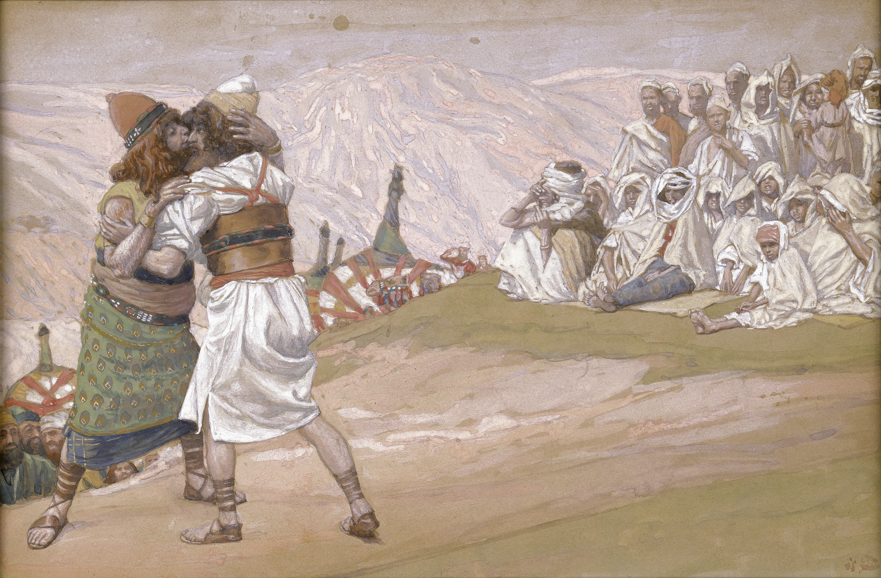 Tissot The Meeting of Esau and Jacob