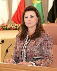 Leïla Ben Ali présidant une réunion publique de l'Organisation de la femme arabe, en novembre 2010.