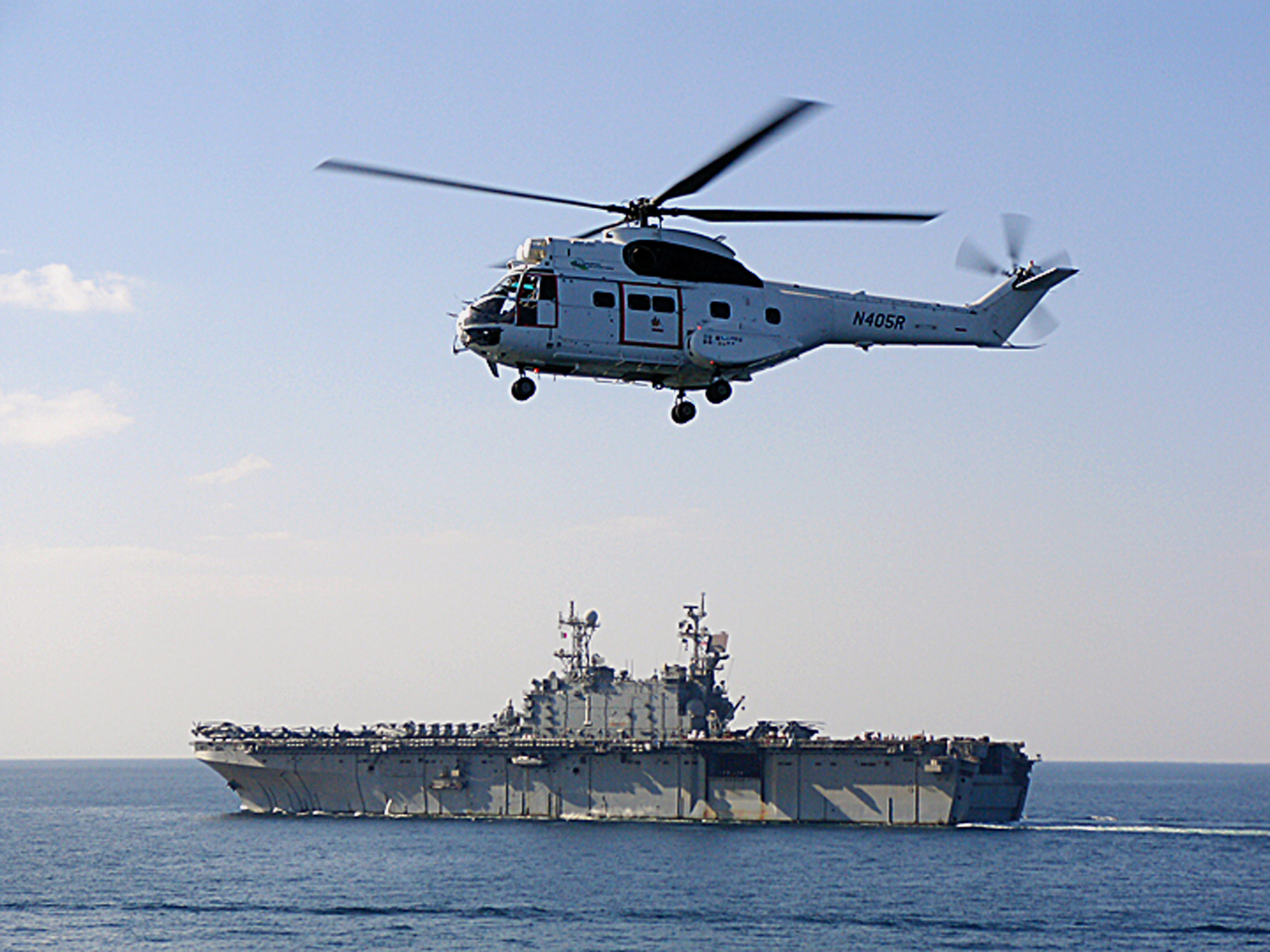 File:US Navy 080207-N-2190B-001 An EH-96 Puma helicopter ...