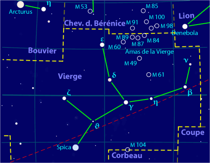 La comète  ISON Virgo_constellation_map-fr