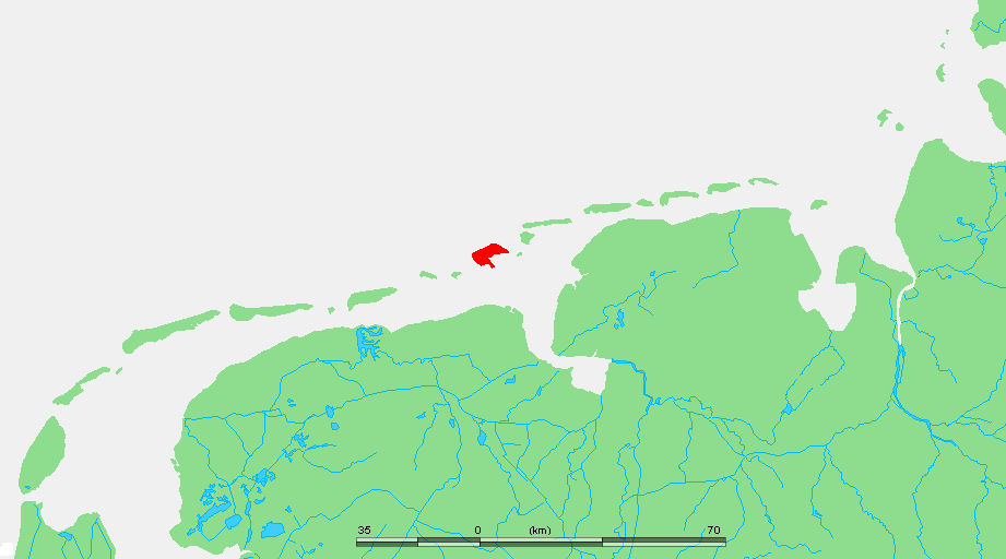 Borkum locator map