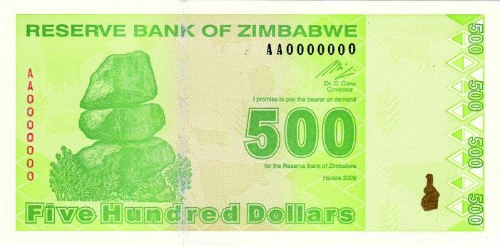 Zimbabwen Dollari