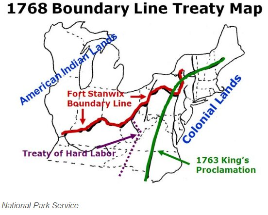 Boundary Line Map of 1768 move the boundary West 1768 Boundary Line Map Treaty of Ft Stanwix.jpg