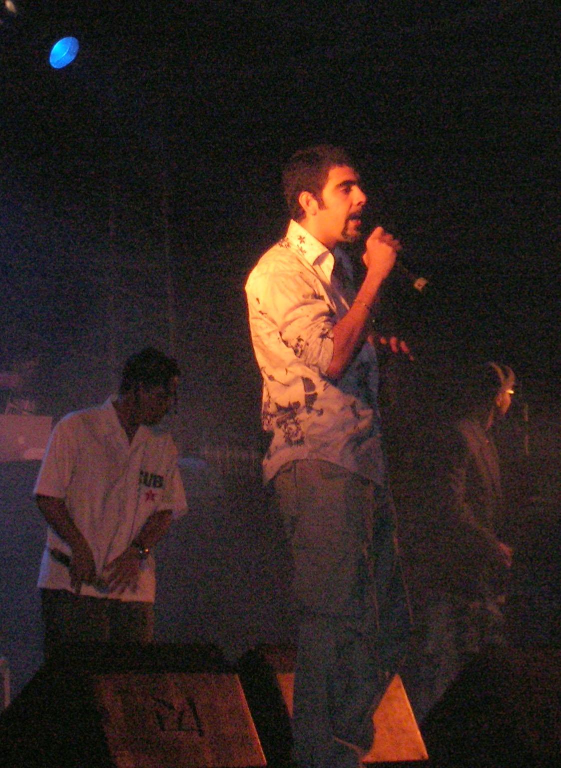 Roldán en concierto en 2006