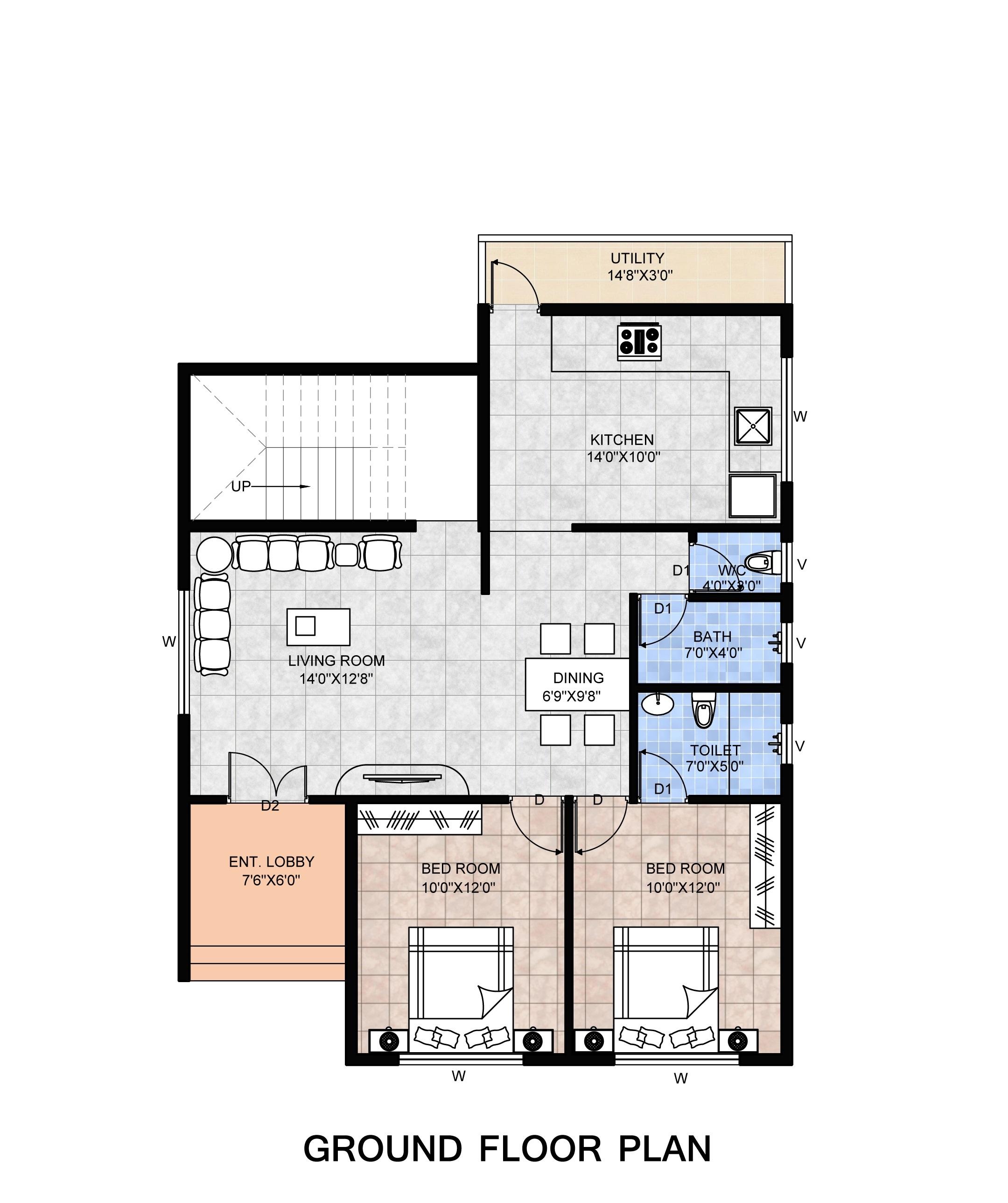 2 bhk Bungalow floor plan.jpg