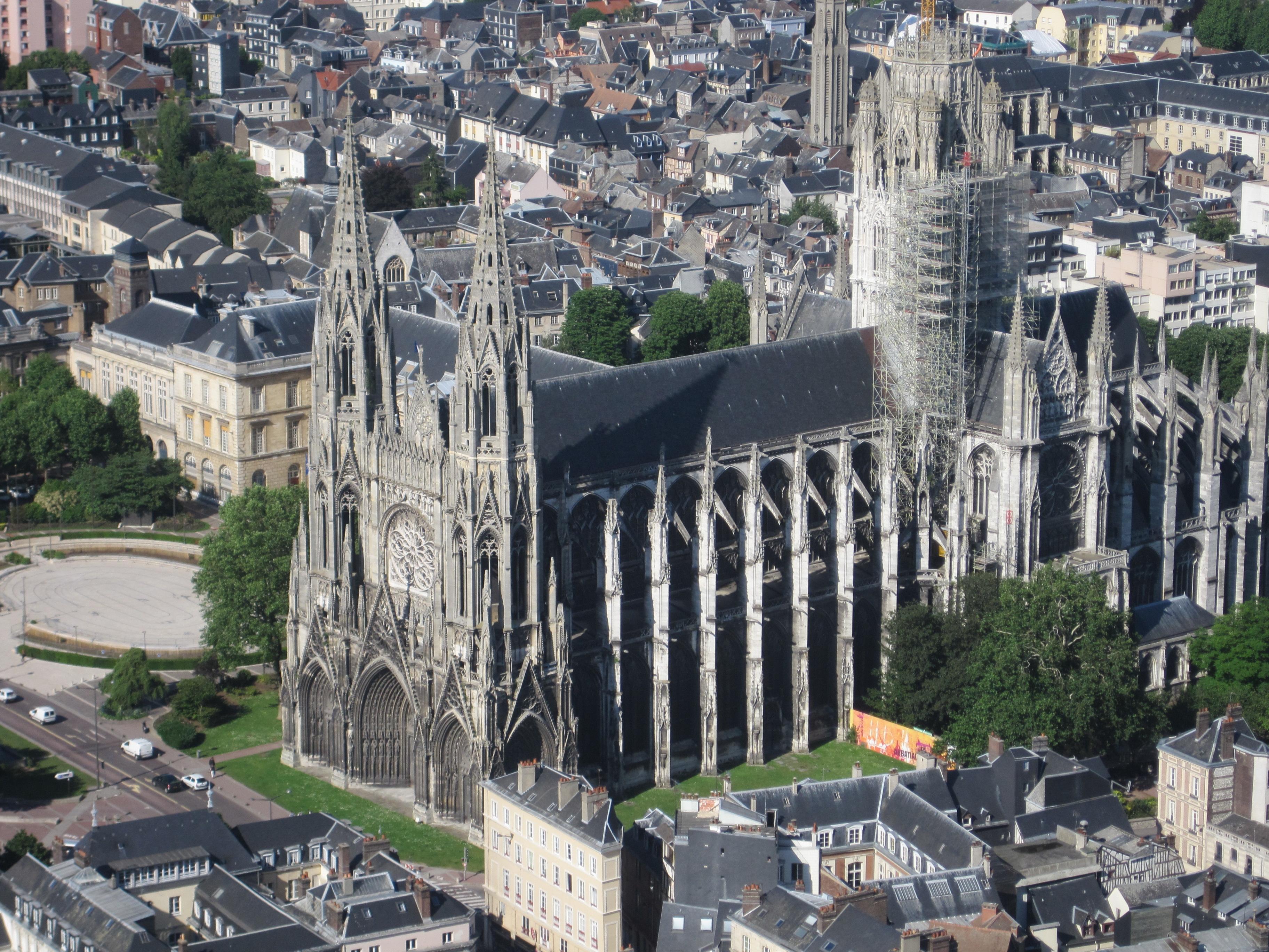 File abbatiale saint ouen vue de la fl che de la cath wikimedia c - Agence saint ouen rouen ...