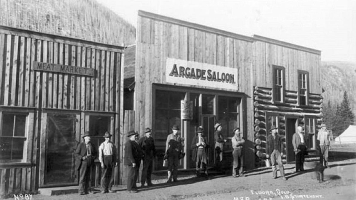 The Arcade Saloon in 1898 Eldora Colorado.