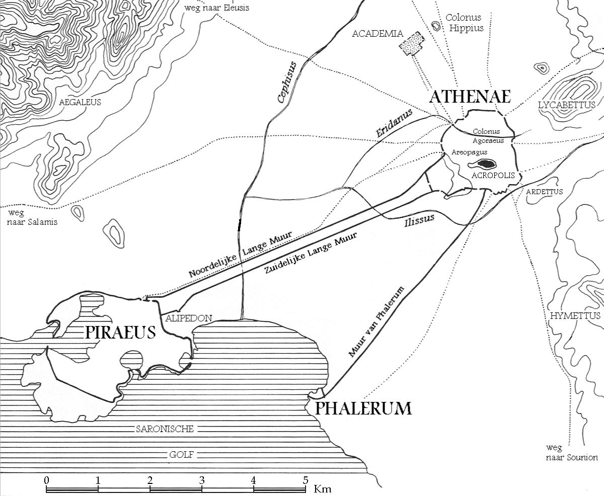 Long Walls Wikipedia - Map of the distance between athens sparta and the us