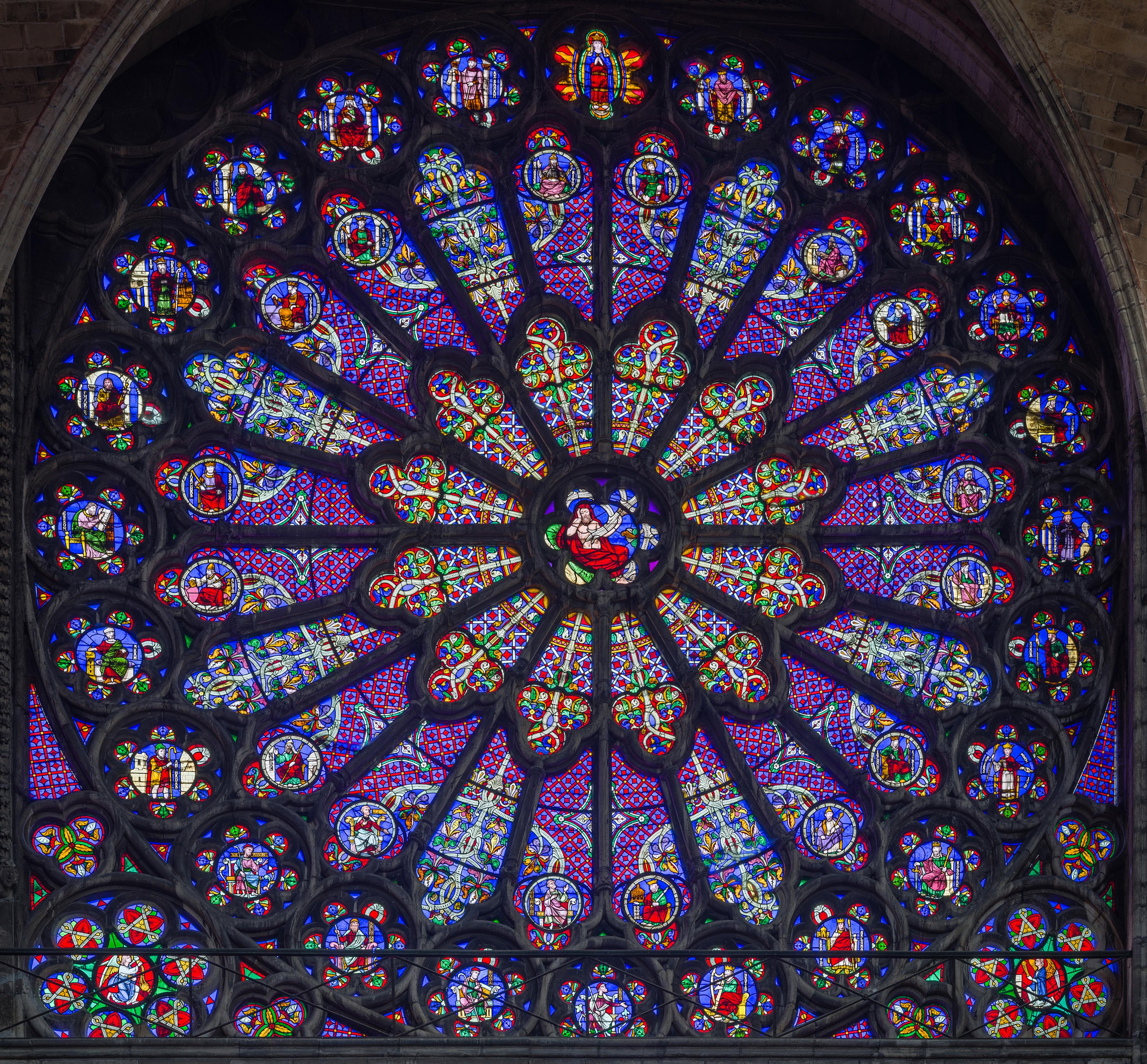 FileBasilica Of Saint Denis Rayonnant Rose Window