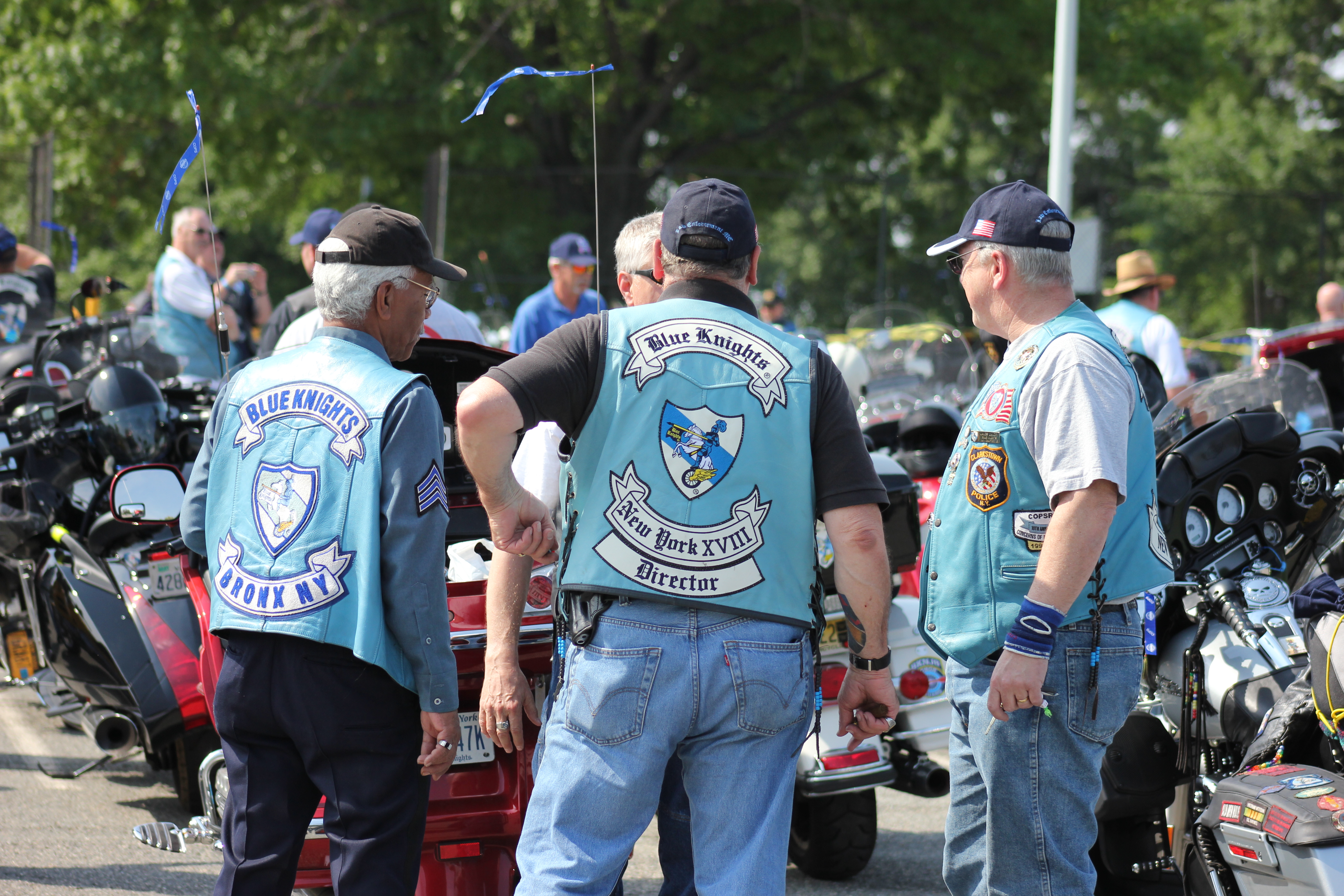 With blue knights xxx motorcycle club