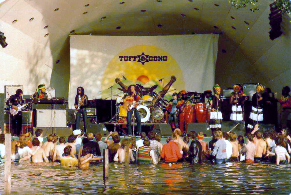 Bob Marley and The Wailers en el festival The Summer of '80 Garden Party, el 7 de junio de 1980.