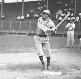 Rickey batting for the Browns in 1906.