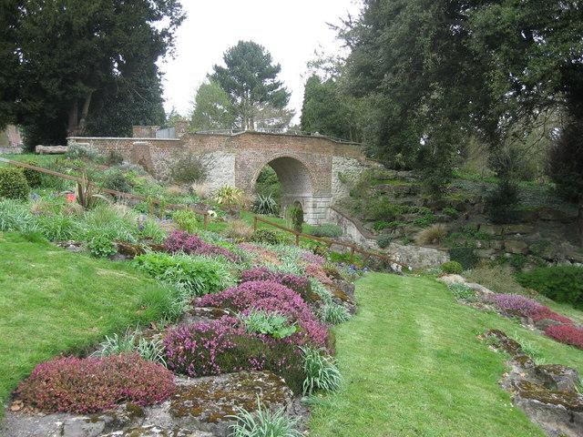 Bridge near Rock Garden, Gatton Park, Reigate - geograph.org.uk - 1242838