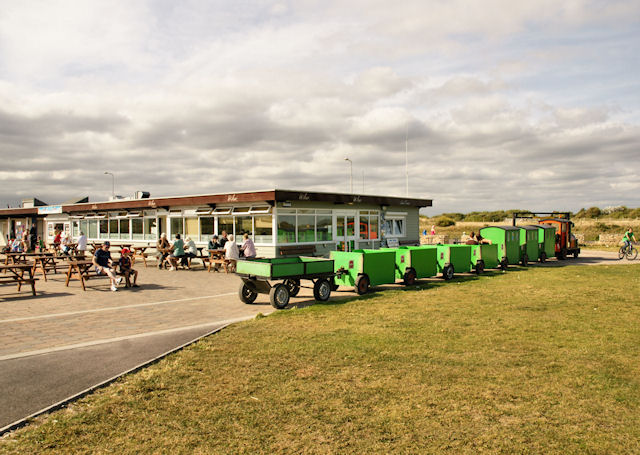 Café and Land Train, Hengistbury Head - geograph.org.uk - 1444685