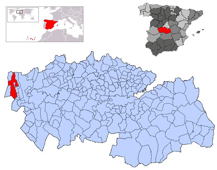 Resultado de imagen de Calzada de Oropesa mapa