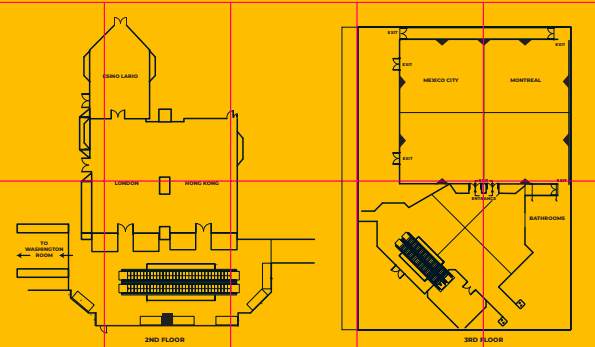 Floorplan of Cape Sun Southern Sun hotel for Wikimania 2018