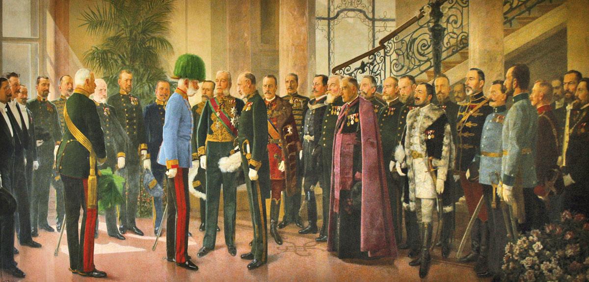 Carl Johann Peyfuss Erster Archivbesuch Kaiser Franz Joseph