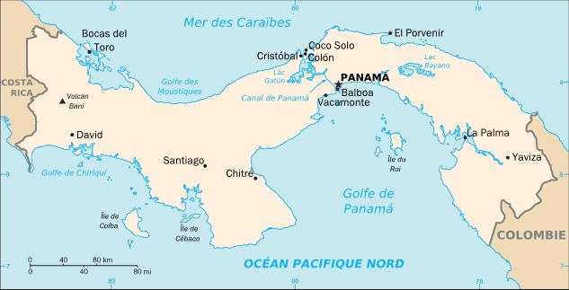 Panama carte du monde