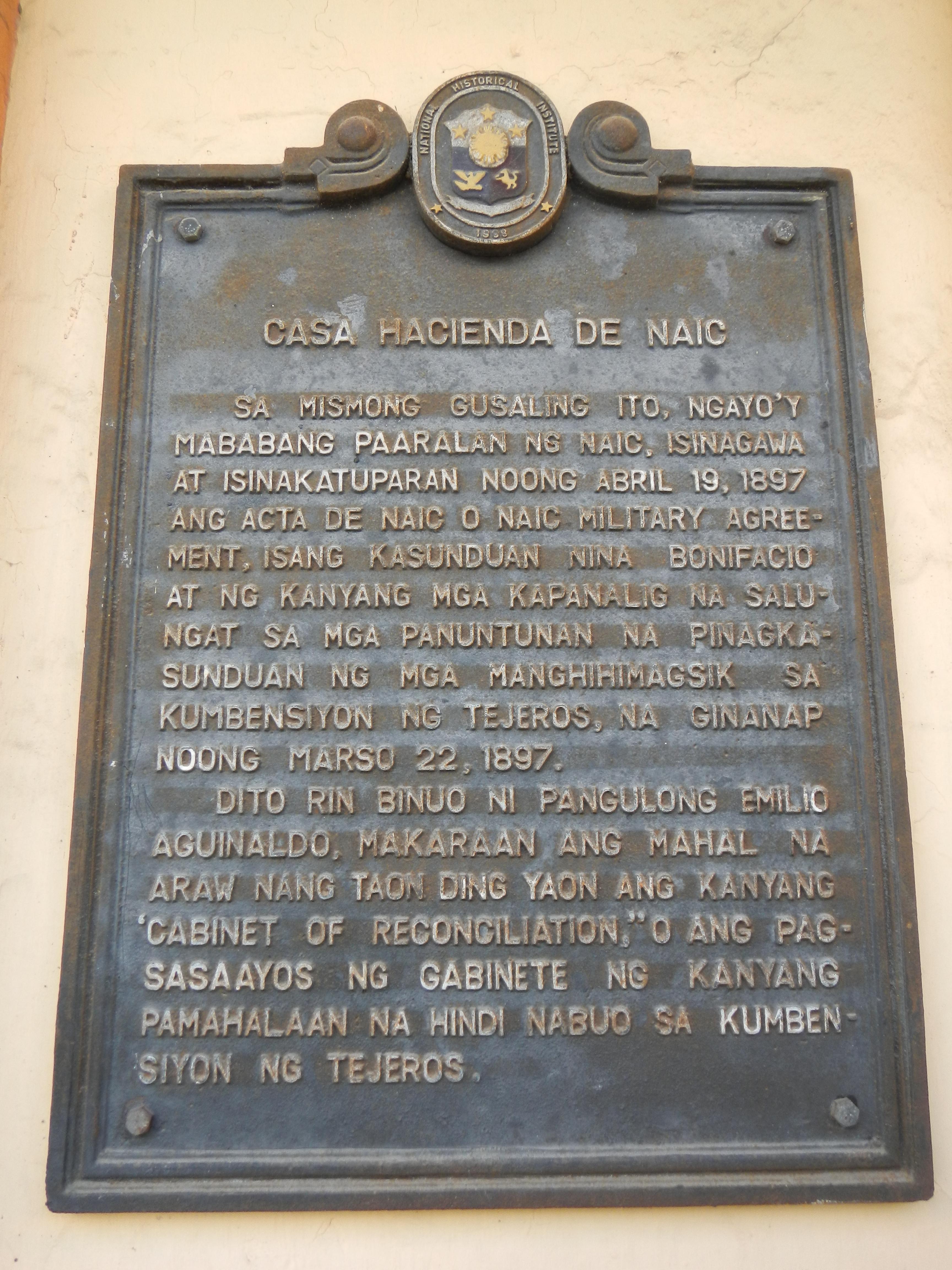 Filecasa Hacienda De Naic Historical Markerg Wikimedia Commons