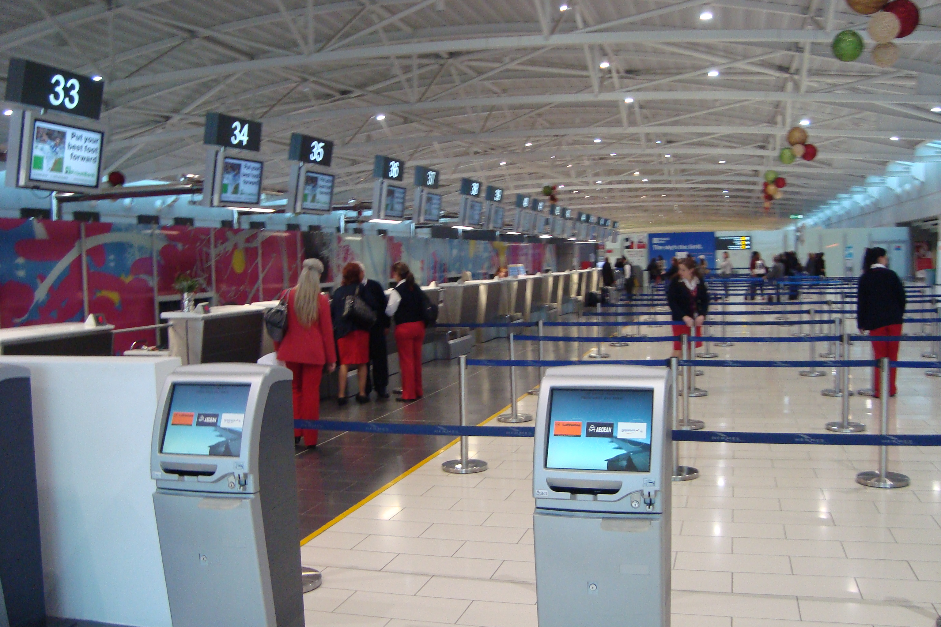 File Check In Desks Larnaca International Airport Republic Of Cyprus Jpg