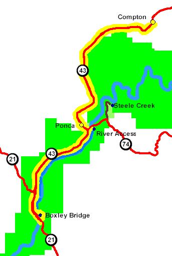 Boxley Valley Arkansas Map.Buffalo National River Sightseeing