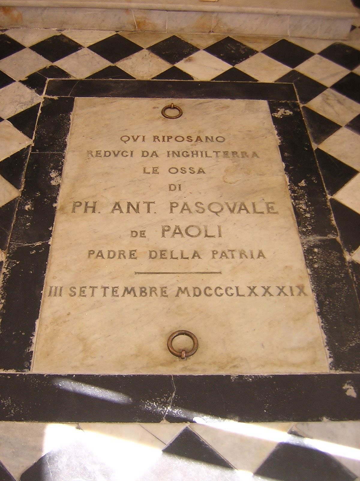 Corsica Pasquale Paoli Tomba Morosaglia