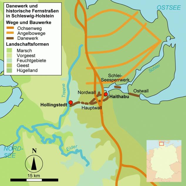 Haithabu Karte.Archaologischer Grenzkomplex Haithabu Und Danewerk Wikipedia