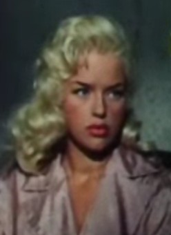 Cropped screenshot of Diana Dors from the trai...