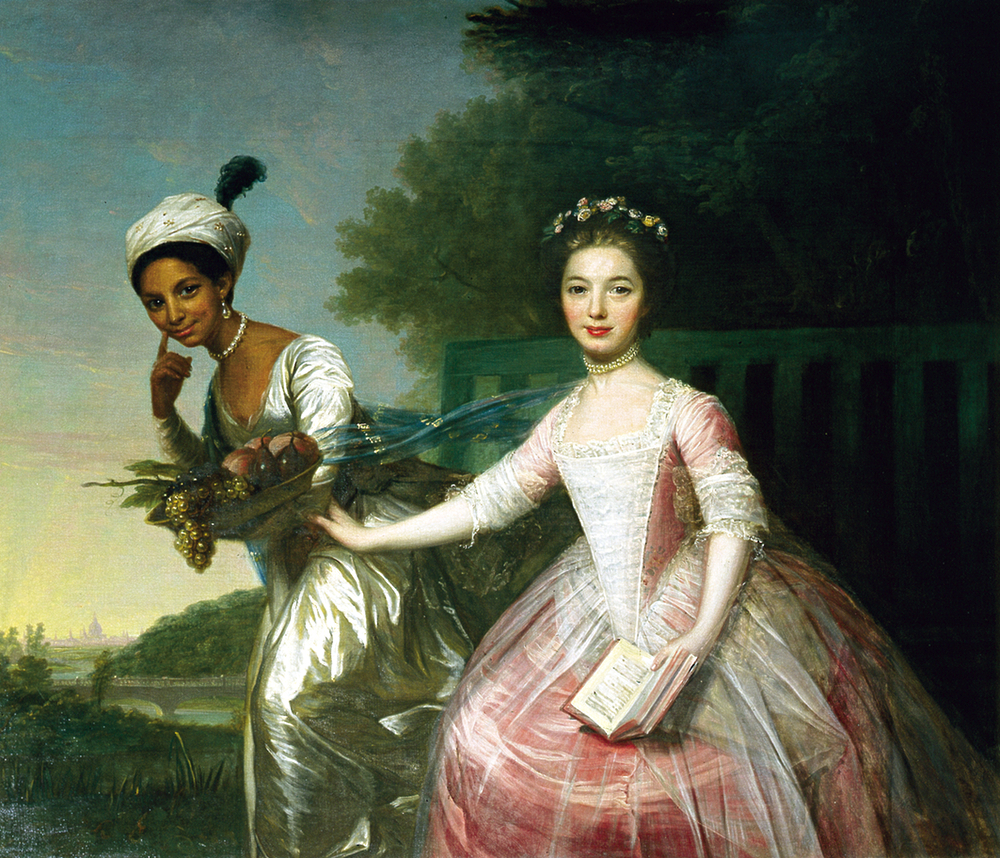 Portrait of Dido Elizabeth Belle Lindsay and her cousin Lady Elizabeth Murray, c.1778