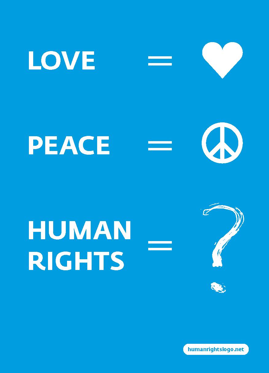 Ein Logo für die Menschenrechte - Quelle: WikiCommons