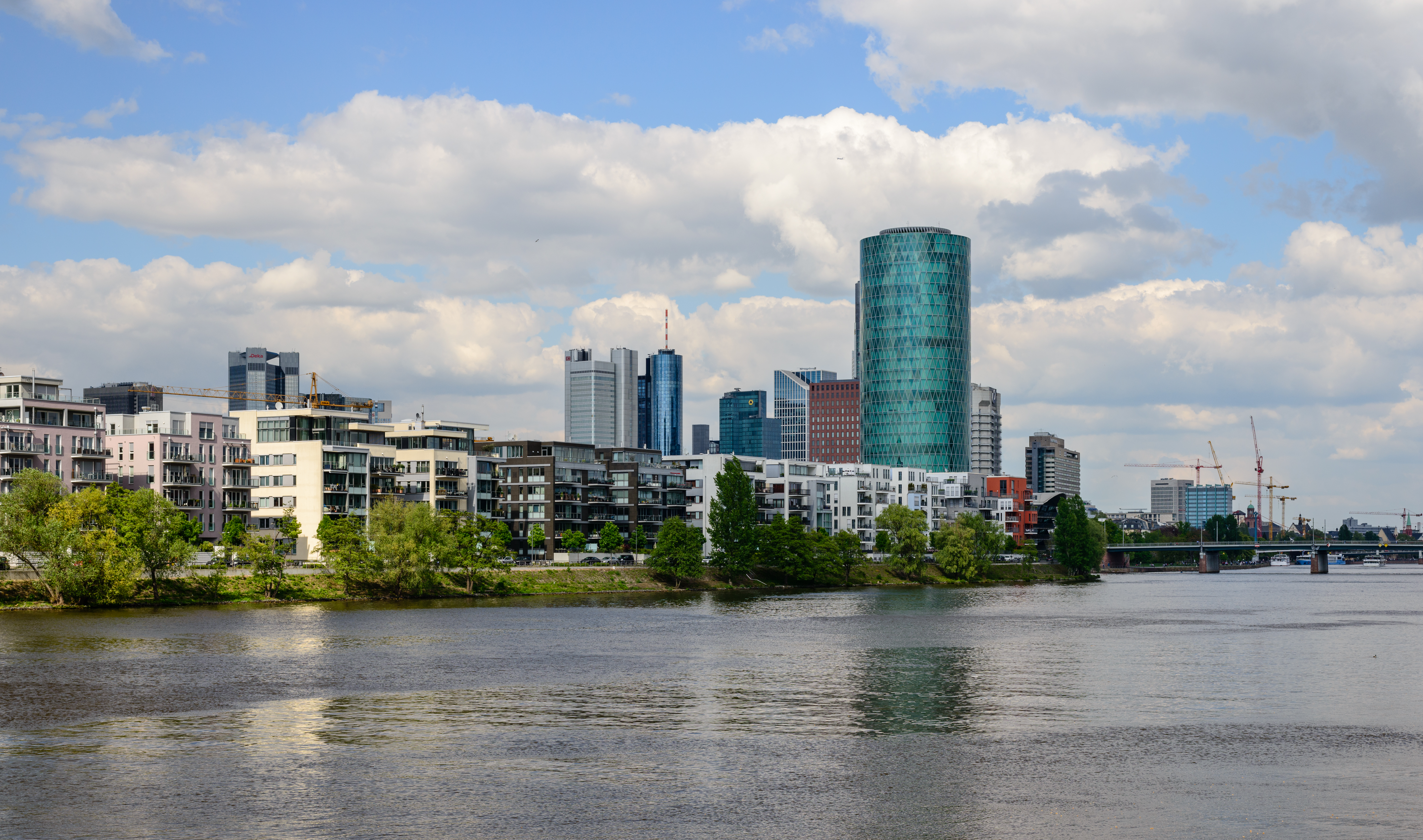 FileFrankfurt Skyline With River Main Germany April Th - Frankfurt river