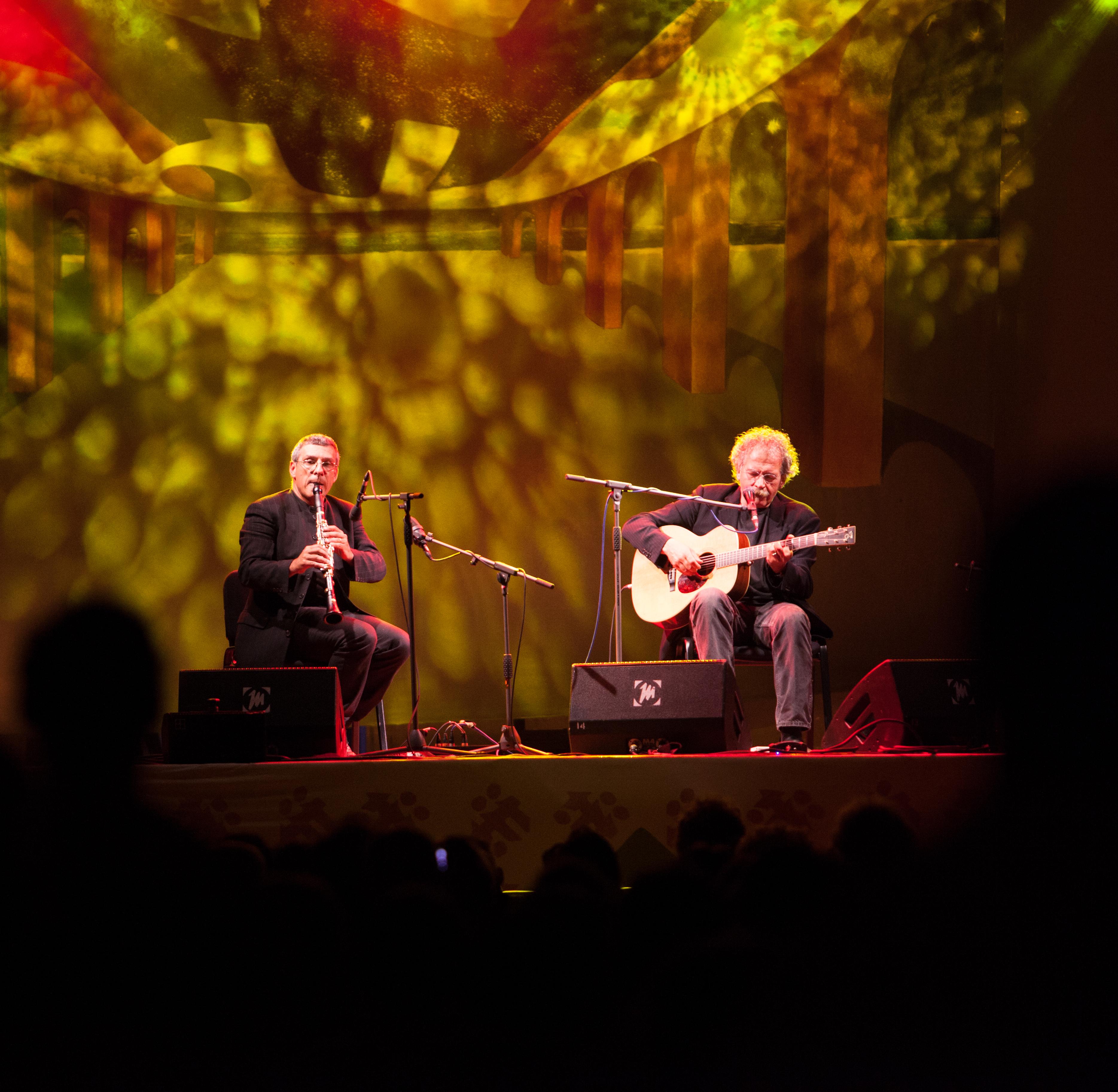 Testa in concerto nel 2013, al TFF di Rudolstadt, assieme al clarinettista Gabriele Mirabassi.