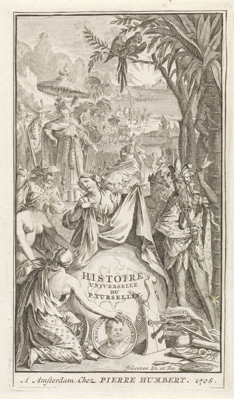 Title page of Orazio Torsellino's ''Histoire universelle'', 1708