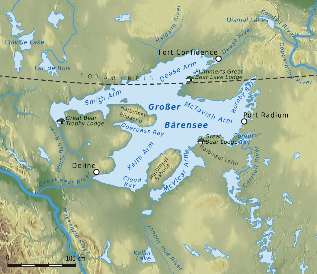 Great Bear Lake Wikipedia - The great lakes on us and canada map