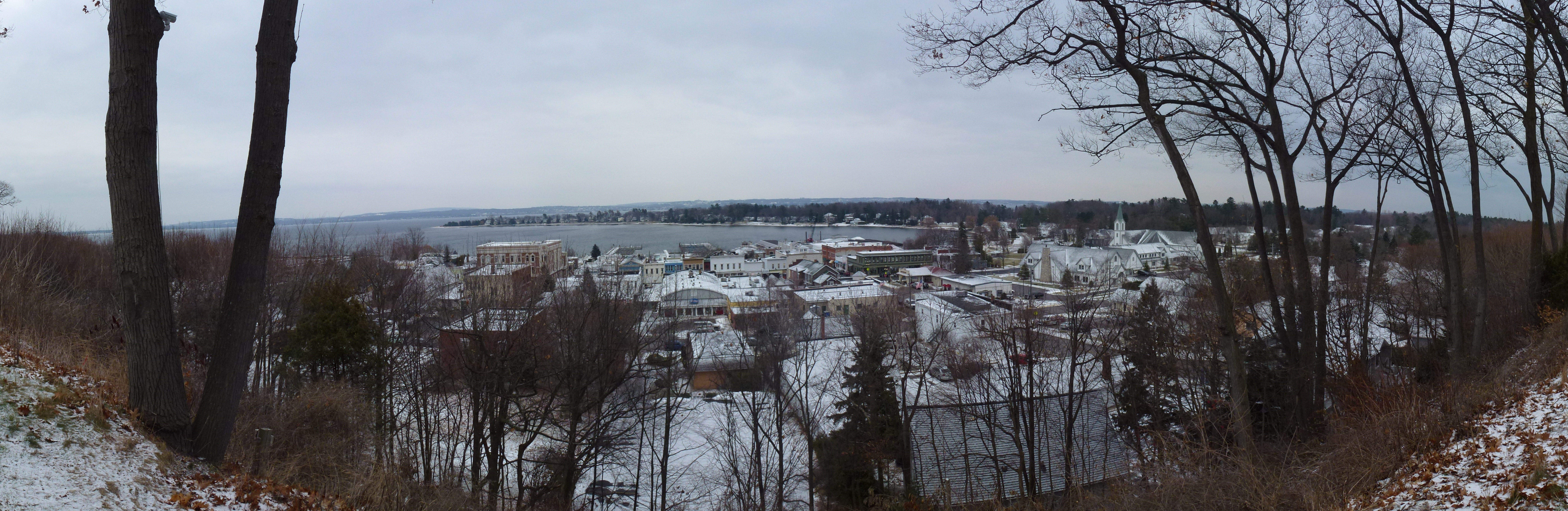 File Harbor Springs Michigan View From Bluff In Winter Jpg Wikipedia