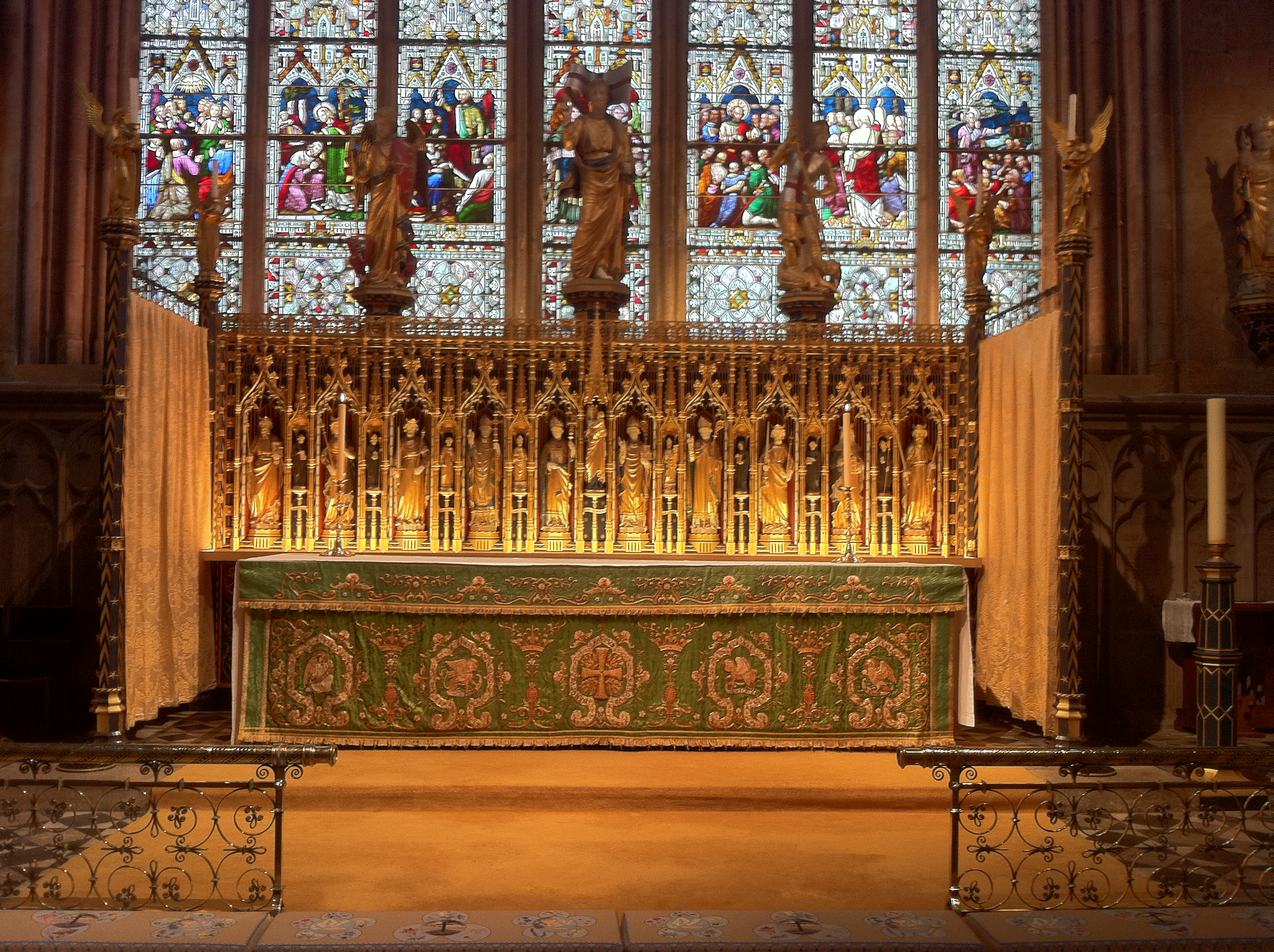 The high altar of Ripon Cathedral