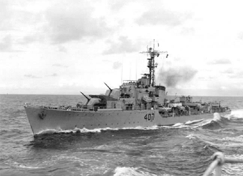 Destroyer Eilat in the 1960s