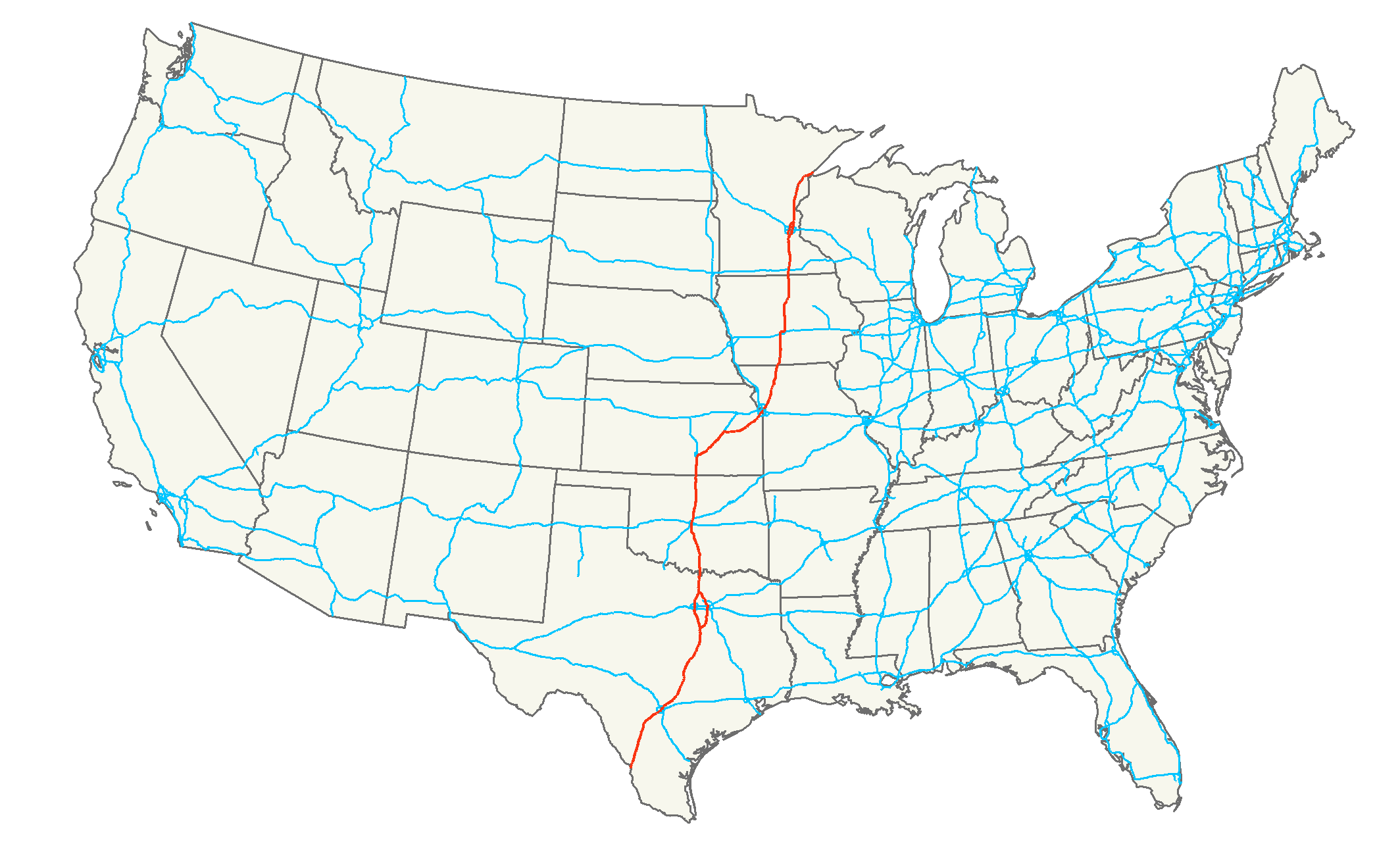 Interstate  Wikiwand - Map of us 61