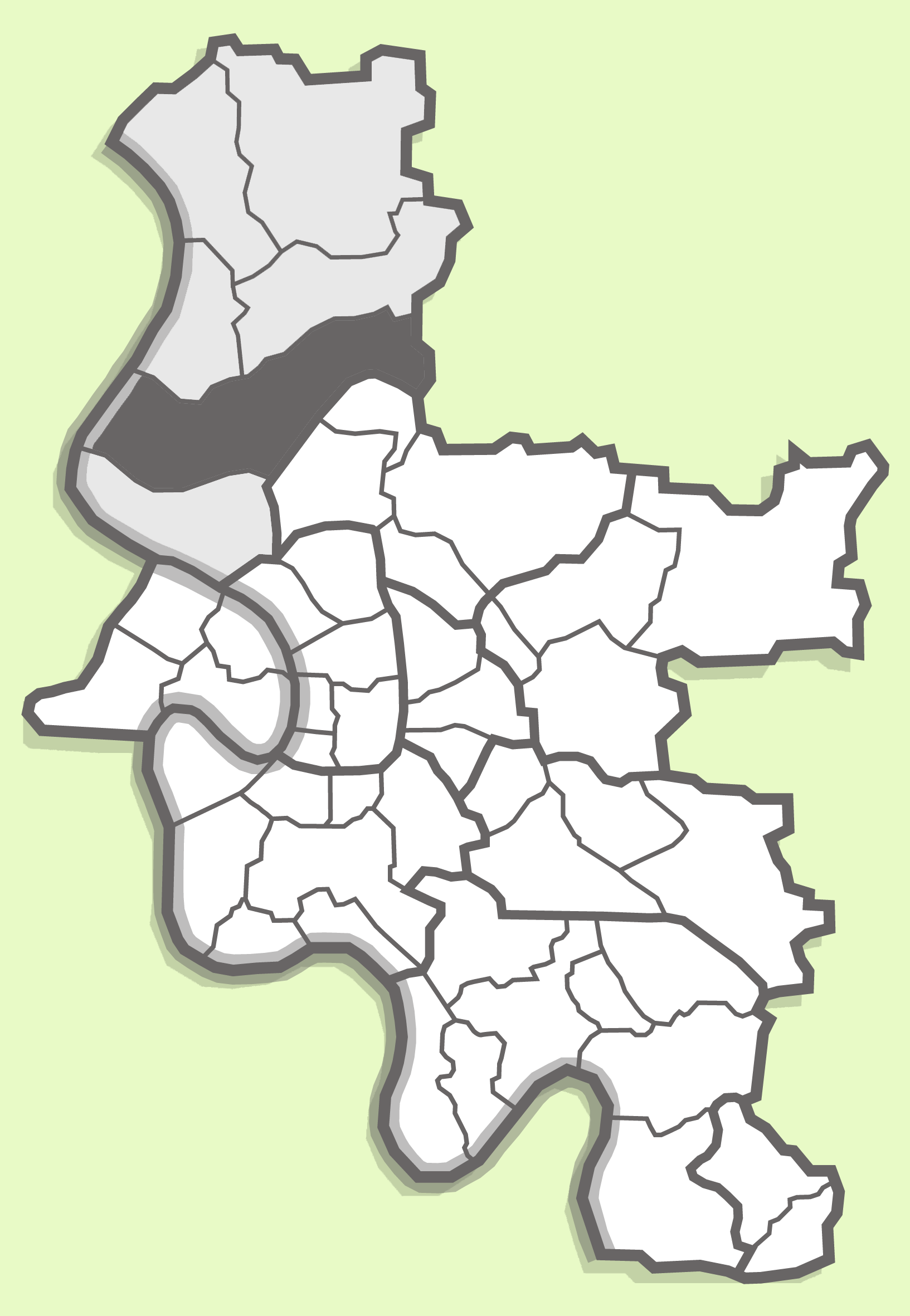 parts of the city of duesseldorf (lohausen) / Karte mit den Düsseldorfer Stadtteilen (Lohausen)