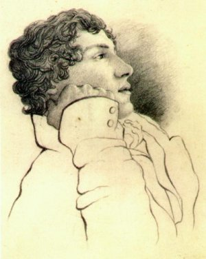 Portrait of romantic poet John Keats (1795-1821).